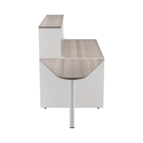 Jemini 1600mm Grey Oak/White Reception Unit with Extension