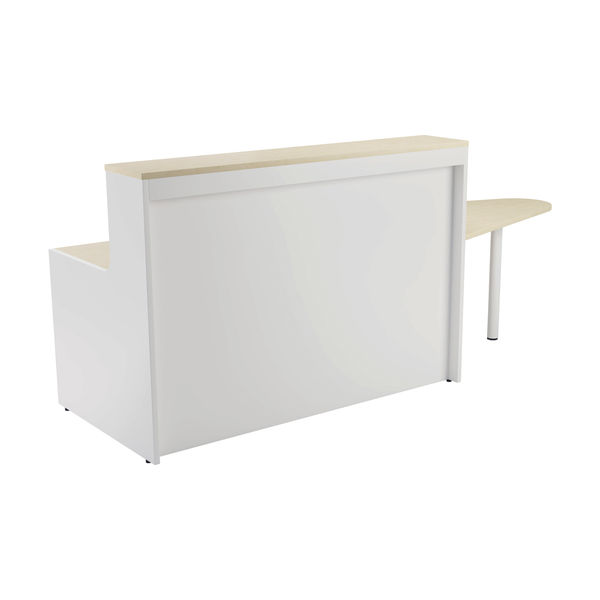 Jemini 1600mm Maple/White Reception Unit with Extension