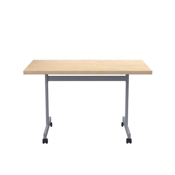 Jemini 1200x700mm Maple/Silver Rectangular Tilting Table