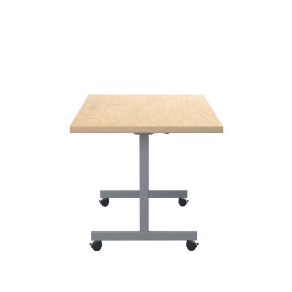 Jemini 1200x800mm Maple/Silver Rectangular Tilting Table