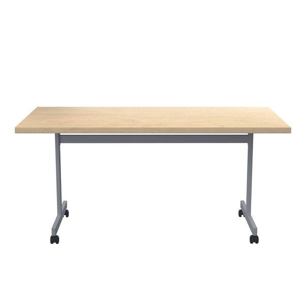 Jemini 1800x800mm Maple/Silver Rectangular Tilting Table