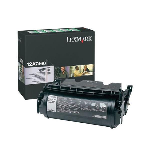 Lexmark Black Return Program Print Cartridge 0012A7460
