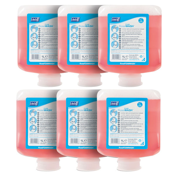 Deb Refresh Rose Foam Wash 1 Litre Cartridge (Pack of 6) RFW1L