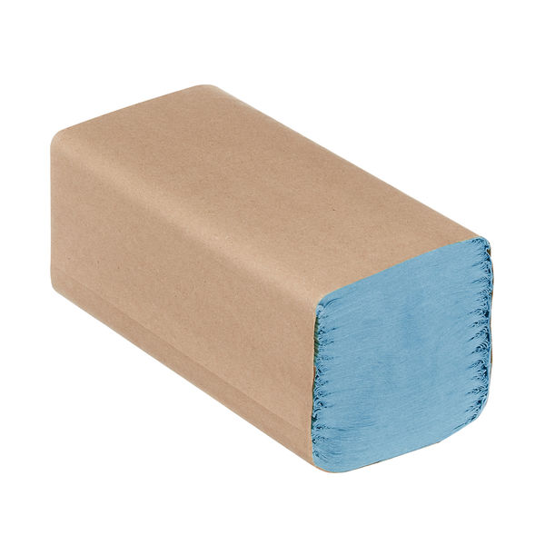 Hostess Natura Hand Towels 1Ply Interfold Blue (Pack of 12) 6836