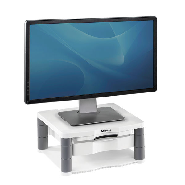 Fellowes White Premium Monitor Riser Plus - 9171302