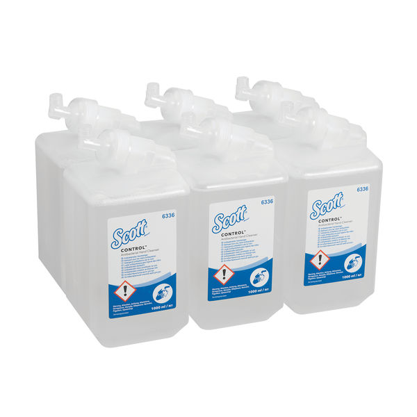 Scott Antibacterial and Antiseptic Hand Sanitiser Cleanser, Pack of 6 - 6334