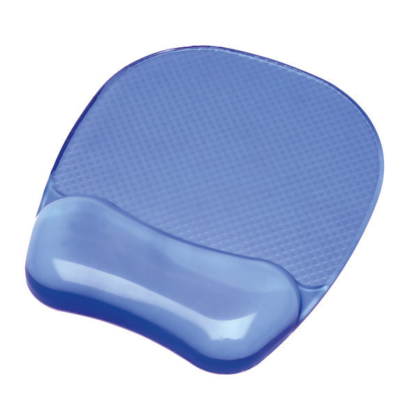Fellowes Crystal Gel Blue Mouse Mat - 91141