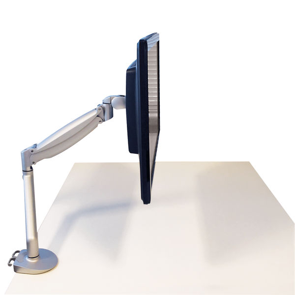 Contour Ergonomics Single Monitor Arm Silver CE77692