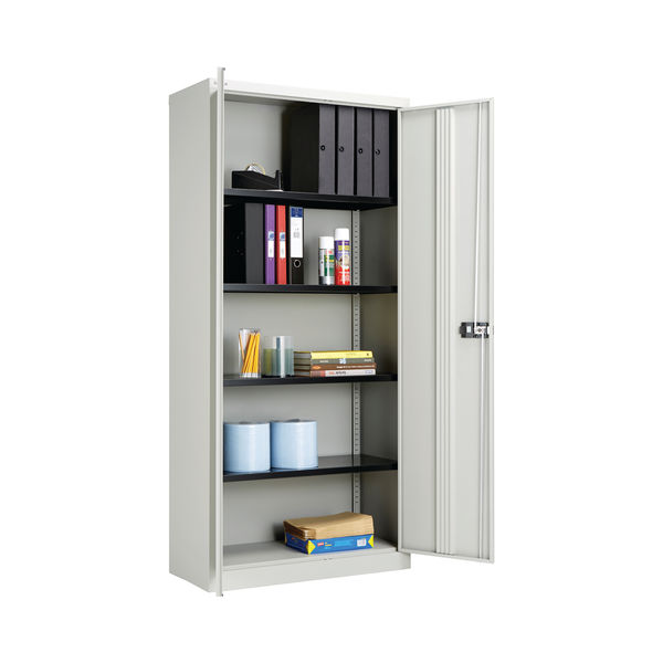 Jemini 1950mm Grey 2 Door Storage Cupboard