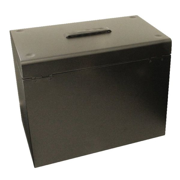 Cathedral Black A4 Lockable Metal Box File - A4BK