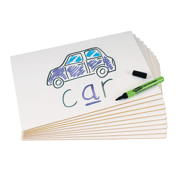 Show-me A4 Rigid Drywipe Boards, Pack of 30 - PFB30