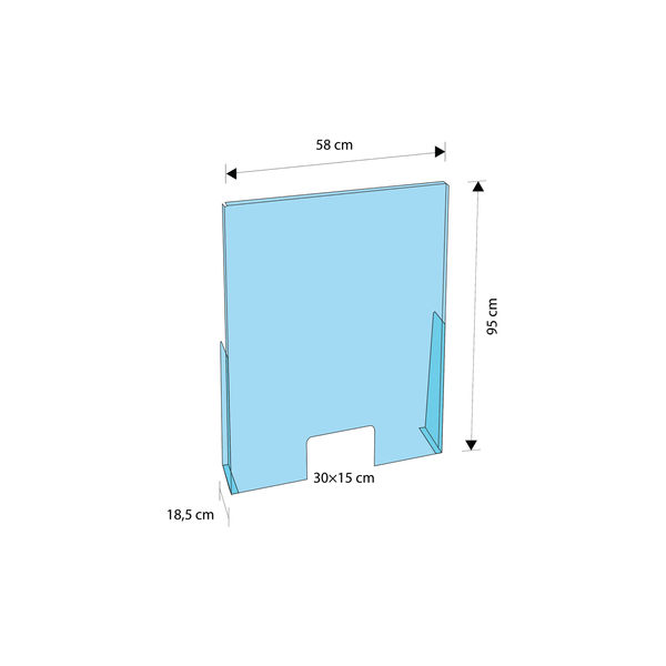 Exacompta Sneeze Guard Protection Screen 95x58cm (Pack of 5) 80758D