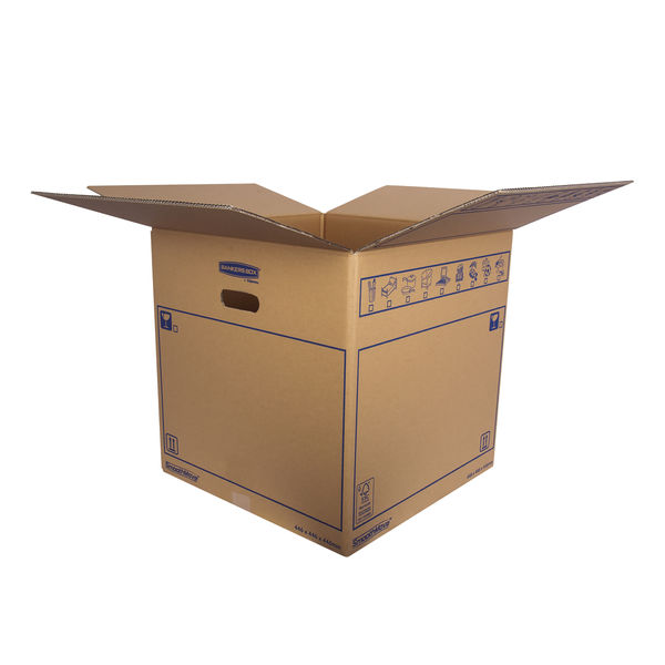 Bankers Box SmoothMove 446 x 446 x 446mm Brown Standard Moving Boxes, Pack of 10 - 6207401