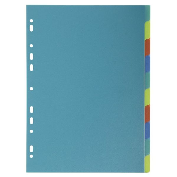 Exacompta A4 Forever Recycled Polypropylene 10 Part Dividers - 2710E
