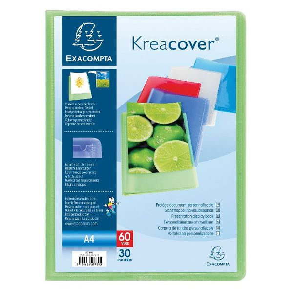 Exacompta A4 Kreacover 30 Pocket Display Books, Pack of 20 - 5739E