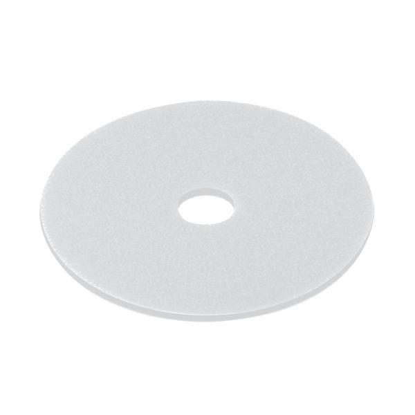3M 380mm White Polishing Floor Pads, Pack of 5 - 2NDWH15