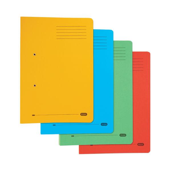 Elba Stratford Foolscap Yellow Pocket Files (Pk25) - 100090150