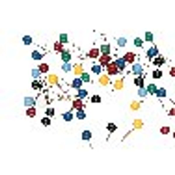 Map Pins Assorted Colours, Pack of 100 - WS26940
