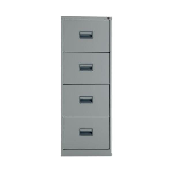 Talos 1300mm Grey 4 Drawer Filing Cabinet