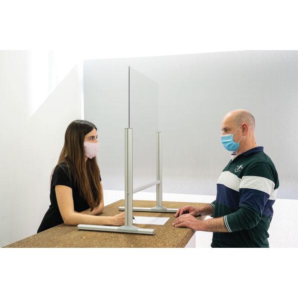 Bi-Office B Desk Glass Protection4mm 1000x850mm DSP713041