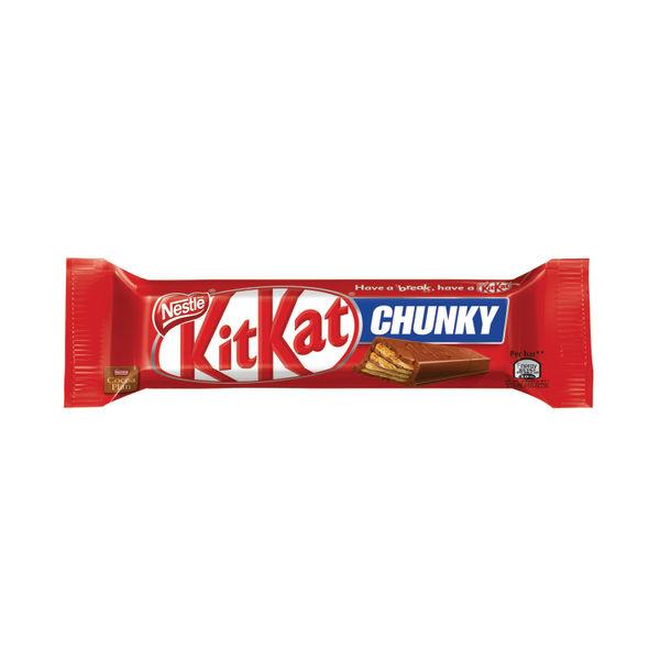 Kit Kat Chunky Milk Chocolate Bar 40g, Pack of 24