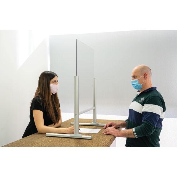 Bi-Office B Desk Glass Protection 4mm 650x850mm DSP693041