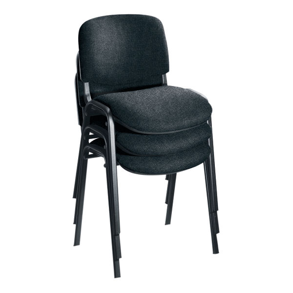 First Ultra Charcoal/Black Multipurpose Stacker Chair