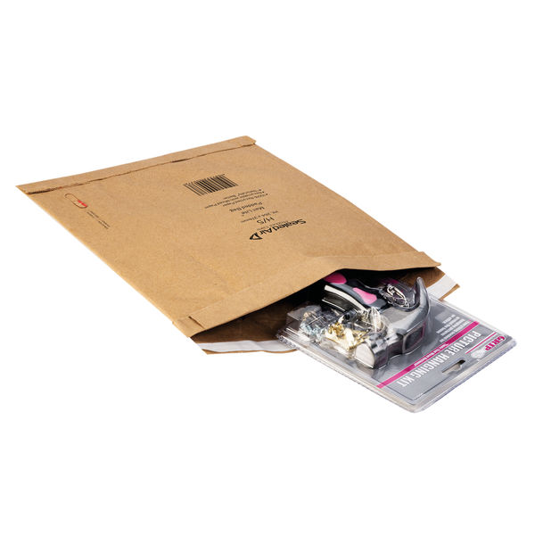 Mail Lite Gold D/1 181 x 273mm Padded Postal Bags, Pack of 100 - 100943477