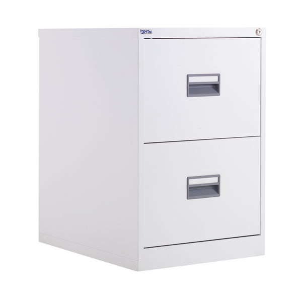 Talos 700mm White 2 Drawer Filing Cabinet