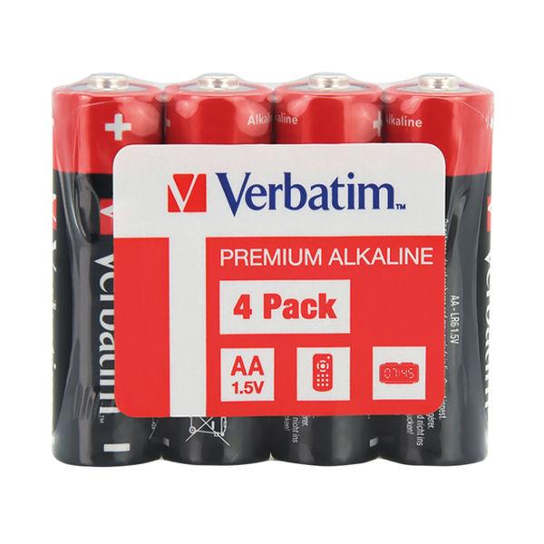 Verbatim AA Alkaline Batteries (Pack of 4) 49501