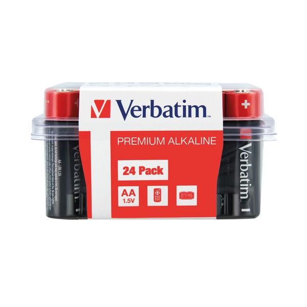 Verbatim AA Alkaline Batteries (Pack of 24) 49505
