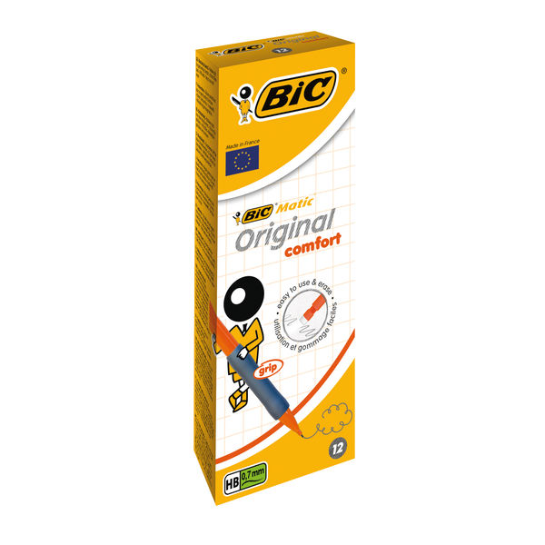 Bic Mechanical 0.7mm Pencil With Rubber Grip Graphite [Box Of 12] 820961