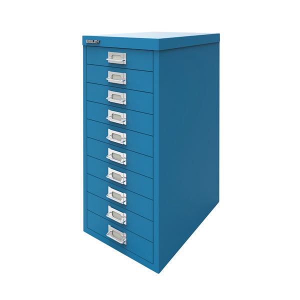 Bisley 590mm Azure Blue 10 Drawer Cabinet - BY78740