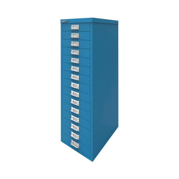 Bisley 860mm Azure Blue 15 Drawer Cabinet - BY78741