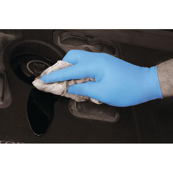 Shield Medium Blue Powder-Free Nitrile Gloves, Pack of 100 - GD19