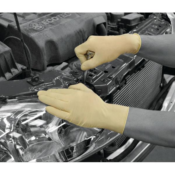 Shield Medium Natural Powdered Latex Gloves, Pack of 100 - GD45