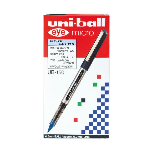 uni-ball Eye Micro Rollerball Blue Pens, Pack of 12 - 162552000