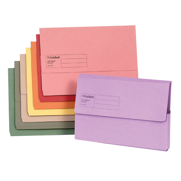 Guildhall Foolscap Buff Document Wallet 285gsm,  Pack of 50 - GH14030