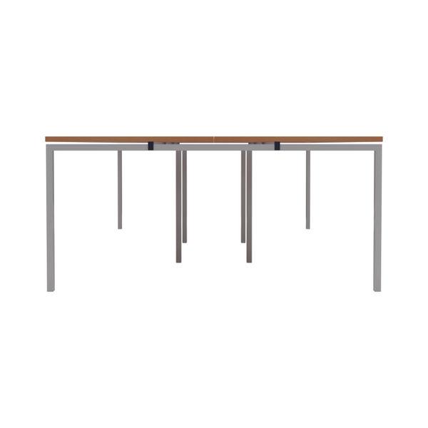 Jemini 1600mm Beech/White Six Person Bench Desk