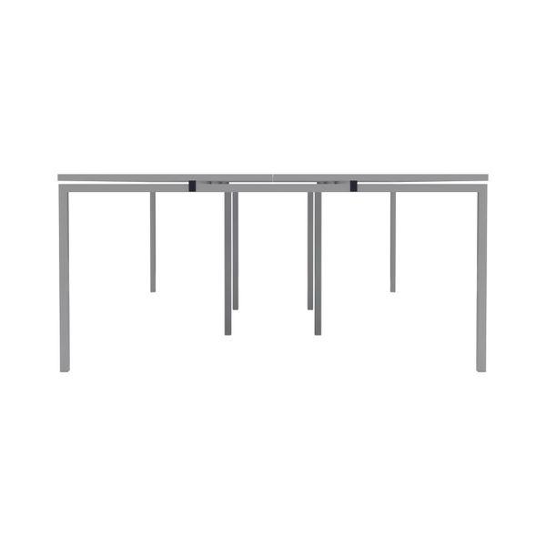 Jemini 1600mm White/White Six Person Bench Desk