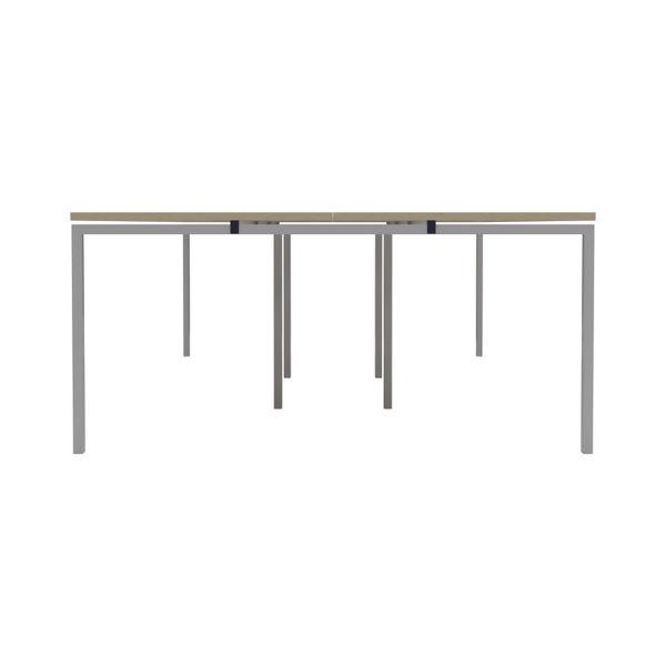 Jemini 1600mm Maple/White Six Person Bench Desk