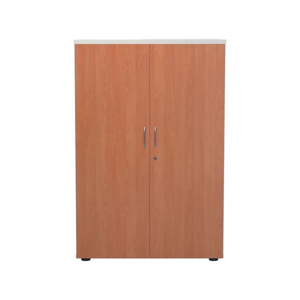Jemini 1200 x 450mm White/Beech Wooden Cupboard