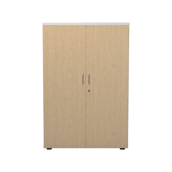 Jemini 1200 x 450mm White/Maple Wooden Cupboard