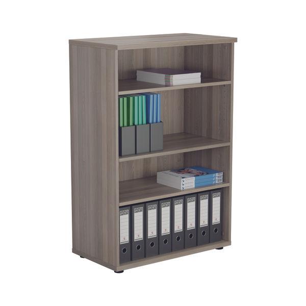 Jemini 1200 x 450mm Grey Oak Wooden Bookcase
