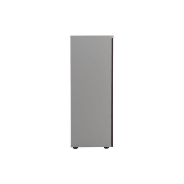 Jemini 1600 x 450mm White/Dark Walnut Wooden Cupboard