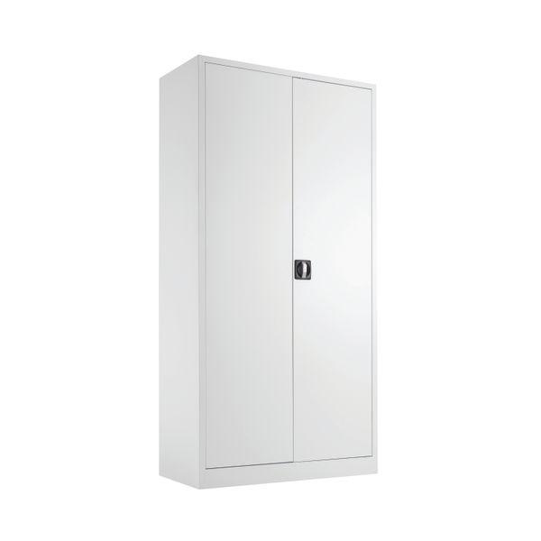 Talos 1790mm White Double Door Stationery Cupboard
