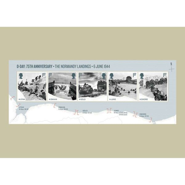 The D-Day 75th Anniversary Stamp Card Pack