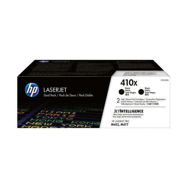 HP 410X High Yield Black LaserJet Toner Cartridge, Dual Pack | CF410XD