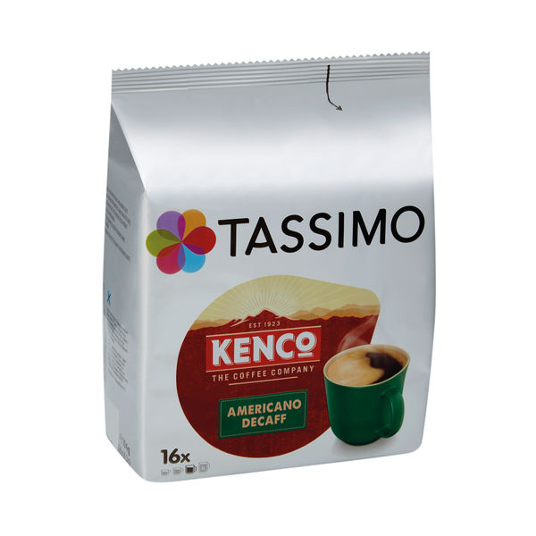 Tassimo Kenco Decaffeinated Coffee Pods (Pack of 16) 4041303
