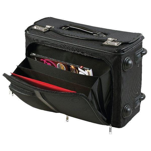 Monolith Nylon Wheeled Pilot Case W470 x D205 x H330mm Black 2383
